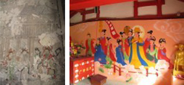 restoration. painting-china